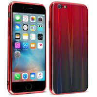 AVIZAR COQUE APPLE IPHONE 6 PLUS ET 6S PLUS EFFET HOLOGRAPHIQUE COLLECTION AURORA ROUGE