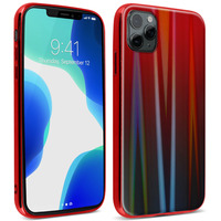 AVIZAR COQUE IPHONE 11 PRO MAX HOLOGRAPHIQUE BRILLANT RIGIDE COLLECTION AURORA ROUGE