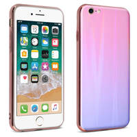 AVIZAR COQUE IPHONE SE 2020/7/8 DESIGN HOLOGRAPHIQUE COLLECTION AURORA ROSE CLAIR