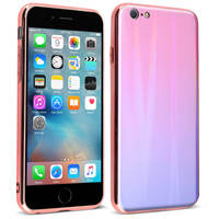 AVIZAR COQUE APPLE IPHONE 6 PLUS ET 6S PLUS HOLOGRAPHIQUE COLLECTION AURORA ROSE CLAIR