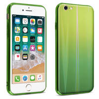 AVIZAR COQUE IPHONE SE 2020/7/8 DESIGN HOLOGRAPHIQUE RIGIDE COLLECTION AURORA VERT
