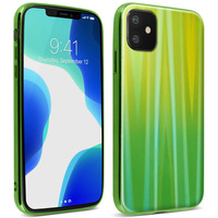 AVIZAR COQUE IPHONE 11 HOLOGRAPHIQUE BRILLANT RIGIDE COLLECTION AURORA VERT