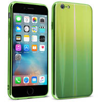AVIZAR COQUE APPLE IPHONE 6 PLUS ET 6S PLUS DESIGN HOLOGRAPHIQUE COLLECTION AURORA VERT
