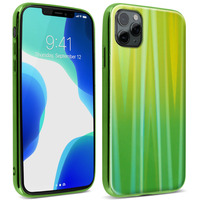 AVIZAR COQUE IPHONE 11 PRO MAX HOLOGRAPHIQUE BRILLANT RIGIDE COLLECTION AURORA VERT