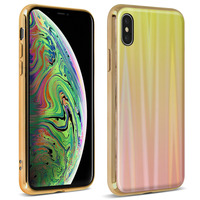 AVIZAR COQUE IPHONE XS MAX DESIGN HOLOGRAPHIQUE BRILLANT RIGIDE COLLECTION AURORA OR