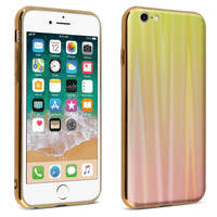 AVIZAR COQUE IPHONE SE 2020/7/8 DESIGN HOLOGRAPHIQUE RIGIDE COLLECTION AURORA OR