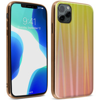 AVIZAR COQUE IPHONE 11 PRO MAX HOLOGRAPHIQUE BRILLANT RIGIDE COLLECTION AURORA OR
