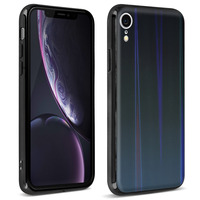 AVIZAR COQUE IPHONE XR DESIGN HOLOGRAPHIQUE BRILLANT RIGIDE COLLECTION AURORA NOIR