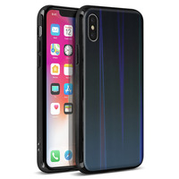 AVIZAR COQUE IPHONE X ET IPHONE XS DESIGN HOLOGRAPHIQUE RIGIDE COLLECTION AURORA NOIR
