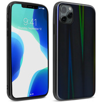 AVIZAR COQUE IPHONE 11 PRO MAX HOLOGRAPHIQUE BRILLANT RIGIDE COLLECTION AURORA NOIR