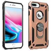 Avizar Coque iPhone 6 Plus et 6S Plus et 7 Plus et 8 Plus Bague Support rose gold