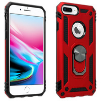 Avizar Coque iPhone 6 Plus et 6S Plus et 7 Plus et 8 Plus Hybride Bague Support rouge