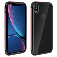 Avizar Coque iPhone XR Protection Bi-matière Antichocs Collection Réglisse - Rouge