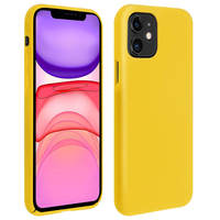 Avizar Coque iPhone 11 Silicone Semi-rigide Mat Finition Soft Touch Jaune