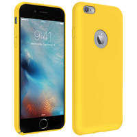 AVIZAR COQUE APPLE IPHONE 6 PLUS ET 6S PLUS SILICONE SEMI-RIGIDE SOFT TOUCH JAUNE
