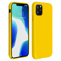 AVIZAR COQUE IPHONE 11 PRO SILICONE SEMI-RIGIDE MAT FINITION SOFT TOUCH JAUNE
