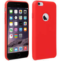 Avizar Coque iPhone 6 et 6S Silicone Semi-rigide Mat Finition Soft Touch Rouge