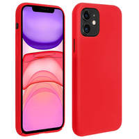 Avizar Coque iPhone 11 Silicone Semi-rigide Mat Finition Soft Touch Rouge