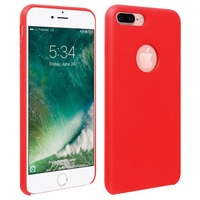 Avizar Coque iPhone 7 Plus / 8 Plus Silicone Semi-rigide Mat Finition Soft Touch Rouge