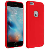Avizar Coque Apple iPhone 6 Plus et 6S Plus Silicone Semi-rigide Soft Touch rouge