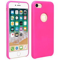 Avizar Coque iiPhone 7/8 Silicone Semi-rigide Mat Finition Soft Touch Rose