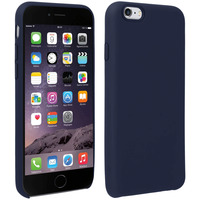 Avizar Coque iPhone 6 et 6S Silicone Semi-rigide Mat Finition Soft Touch Bleu nuit