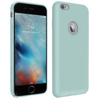 Avizar Coque Apple iPhone 6 Plus et 6S Plus Silicone Semi-rigide Soft Touch Vert d'eau