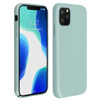 Avizar Coque iPhone 11 Pro Silicone Semi-rigide Mat Finition Soft Touch Vert