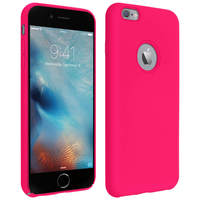 AVIZAR COQUE IPHONE 6 PLUS ET 6S PLUS SILICONE SEMI-RIGIDE SOFT TOUCH ROSE FUCHSIA