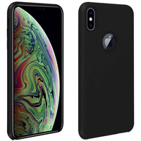 Avizar Coque iPhone XS Max Silicone Semi-rigide Mat Finition Soft Touch noir