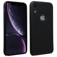 Avizar Coque iPhone XR Silicone Semi-rigide Mat Finition Soft Touch noir
