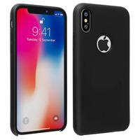 Avizar Coque iPhone X / XS Silicone Semi-rigide Mat Finition Soft Touch noir