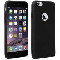 Avizar Coque iPhone 6 et 6S Silicone Semi-rigide Mat Finition Soft Touch Noir