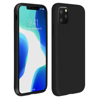 Avizar Coque iPhone 11 Pro Silicone Semi-rigide Mat Finition Soft Touch Noir