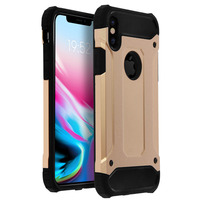 Avizar Coque iPhone X / XS Protection Antichoc Bi-Matières (1,80m) - Or