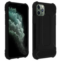 Avizar Coque Apple iPhone 11 Pro Design Relief Bi-matière Robuste Antichute 1,8m noir