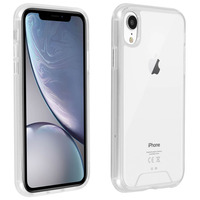 Avizar Coque Apple iPhone XR Coque Cristal Bi-matière - Transparent
