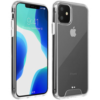 Avizar Coque iPhone 11 Protection Bi-matière Bumper Collection Cristal Transparent