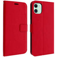 Avizar Housse Apple iPhone 11 Étui Porte carte Support Vidéo Vintage Rouge