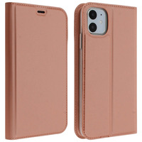Avizar Housse iPhone 11 Étui Porte-carte Support Vidéo rose gold