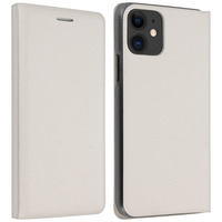 Avizar Housse Apple iPhone 11 Étui Folio à Clapet Porte-carte blanc