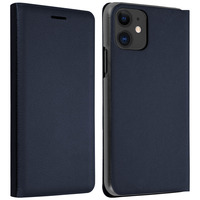 Avizar Housse Apple iPhone 11 Étui Folio à Clapet Porte-carte bleu nuit