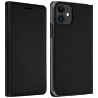 Avizar Housse Apple iPhone 11 Étui Folio à Clapet Porte-carte noir