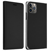 Avizar Housse Apple iPhone 11 Pro Max Étui Folio à Clapet Porte-carte noir