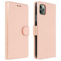 Avizar Étui Apple iPhone 11 Pro Max Housse Porte-cartes Fonction Support Rose gold