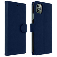 Avizar Étui Apple iPhone 11 Pro Max Housse Porte-cartes Fonction Support Bleu nuit