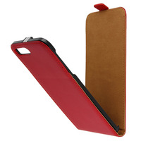 Avizar Housse Etui Clapet Vertical Cuir Rouge iPhone 7 Plus / iPhone 8 Plus
