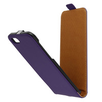 Avizar Etui Etui Clapet Vertical Cuir Violet iPhone 7 et iPhone 8