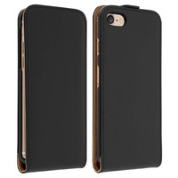 Avizar Étui Apple iPhone 7 /8 Housse Protection à Clapet Vertical Coque sur-mesure Noir
