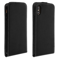 AVIZAR ETUI APPLE IPHONE XS MAX HOUSSE CLAPET VERTICAL PROTECTION PORTE-CARTE NOIR
